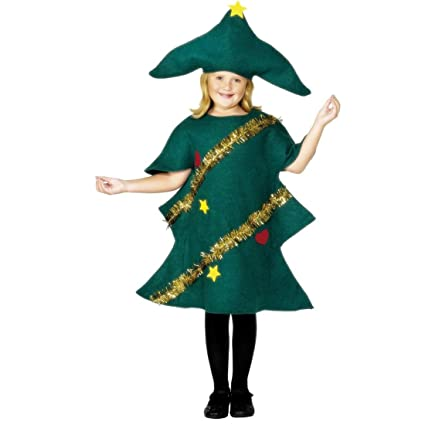 NET TOYS Disfraz Infantil de árbol de Navidad niños Traje Carnaval Abeto árbol navideño