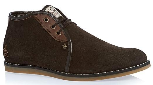 Original Penguin Legal Brown New Mens Suede Desert Shoes Boots12