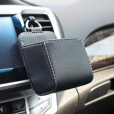 LOCEN Car Air Vent Outlet Pocket Storage Holder Pouch for Phone Debris Keys Sunglasses Pens - Black: Baby