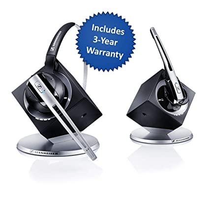 9141ea8898e Amazon.com: Sennheiser OfficeRunner Convertible Wireless Office Headset  with Microphone - DECT 6.0 (Classic Silver): Office Products