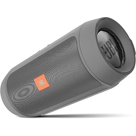JBL Charge 2+ Splashproof Bluetooth Speaker Grey Bluetooth Speakers at amazon