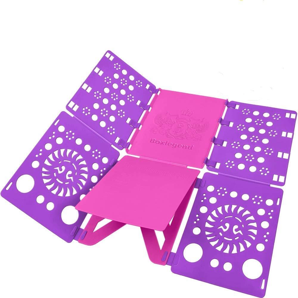 BoxLegend V2-Plus Shirt Folding Board t Shirts Clothes Folder Durable Plastic Laundry folders Folding Boards flipfold (Purple)