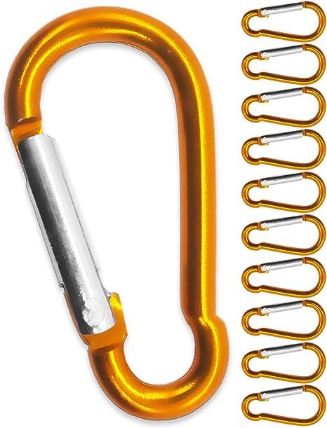 Outdoor Saxx® Mosquetón S de aluminio naranja 1.5 pulgadas para la fijación del equipo a la mochila, cinturón, tienda de campaña, canoa naranja juego ...