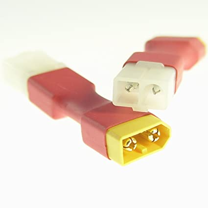 XT60 macho a Tamiya Hembra Cable Adaptador Adaptador Conector ...