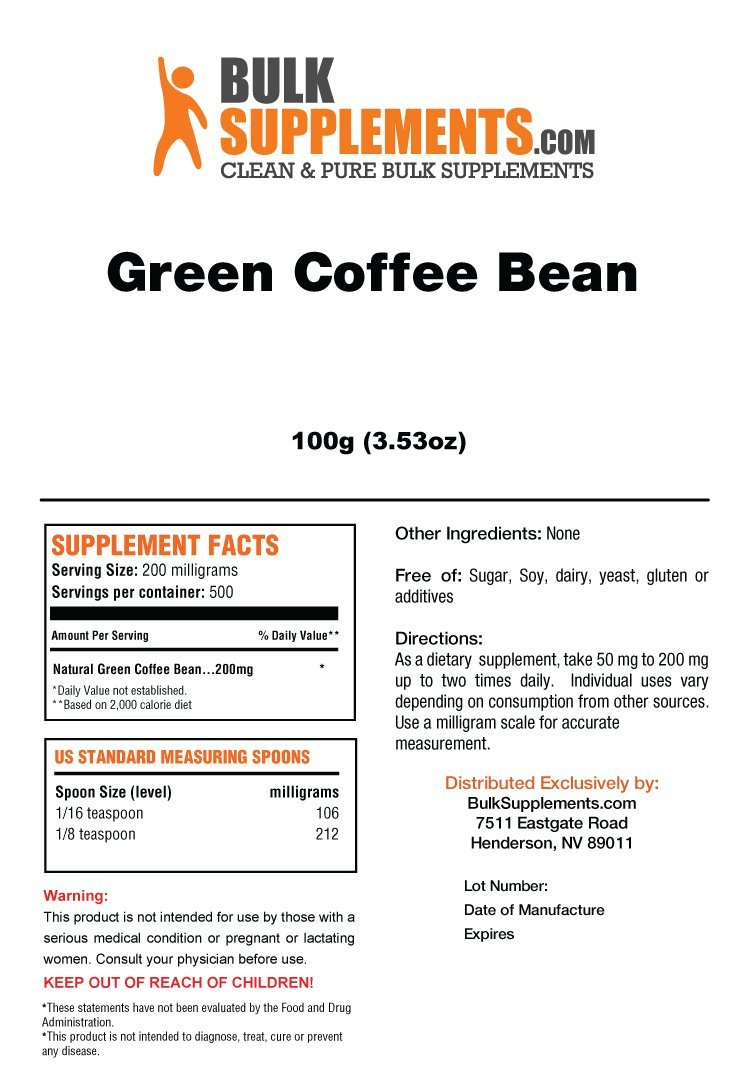 BulkSupplements Green Coffee Bean Powder (100 grams) by BulkSupplements (Image #3)