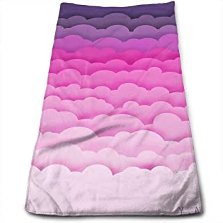 WCMBY Hand Towels Colorful Cloud Face Towels Highly Absorbent Towels for Face Gym And Spa 12' X 27.5'