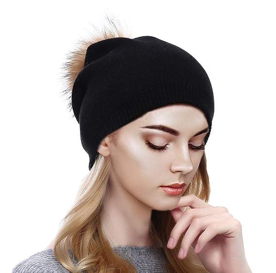 ed98db84a24 Sythyee Women s Winter Knit Wool Skull Beanie Hat
