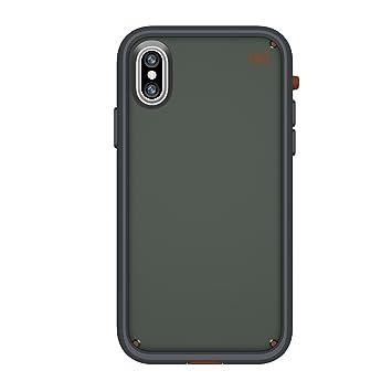 Speck Presidio - Ultra carcasa con extraíble Bumer para Apple iPhone X - Gris oscuro