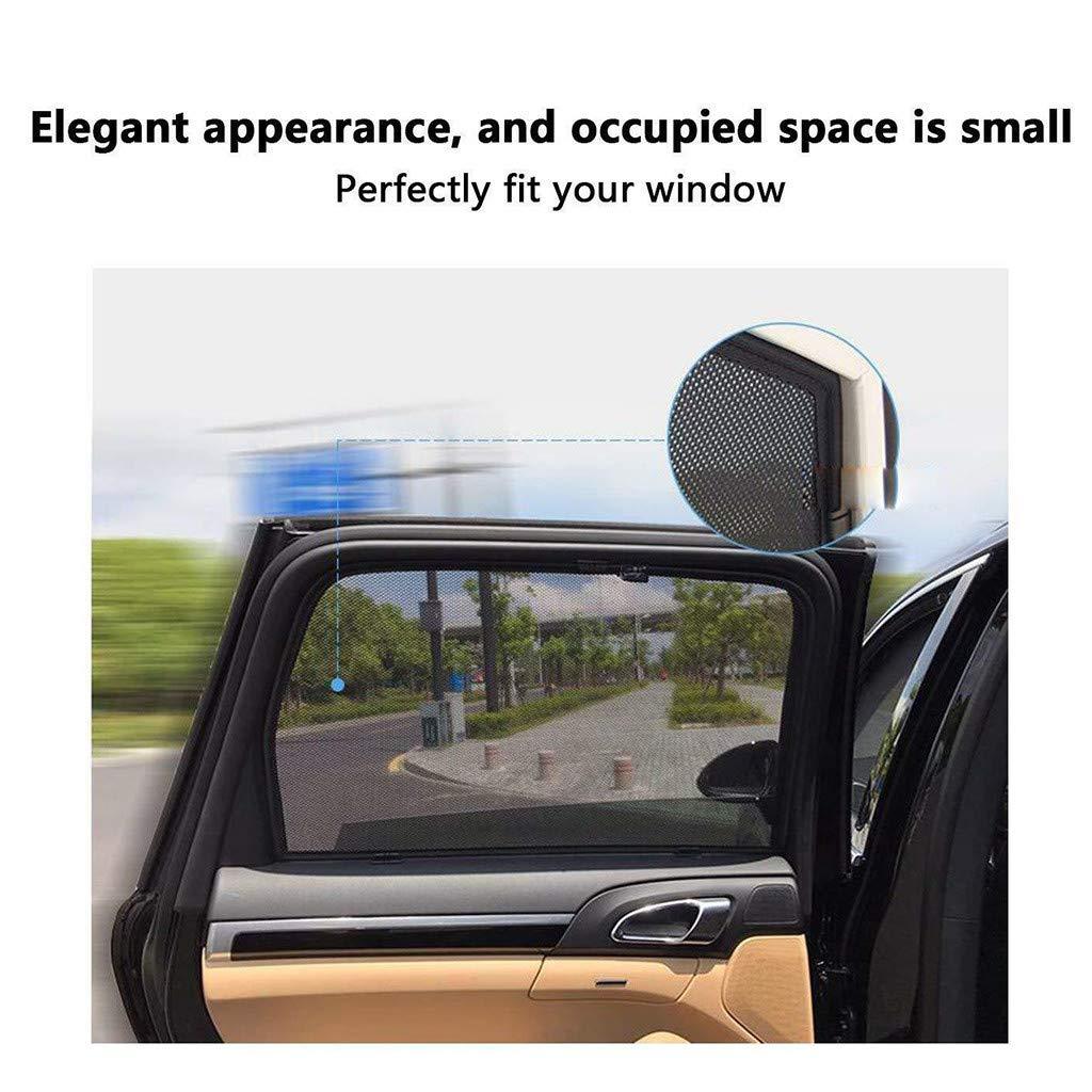 parasol para ventana de coche Parasol de coche Winkey 2 unidades por juego tama/ño universal malla de poli/éster magn/ética