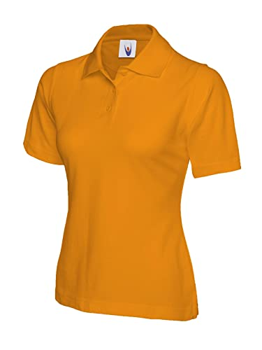 Ladies Polo de manga corta ocio Casual camiseta Top deportes trabajo Workwear