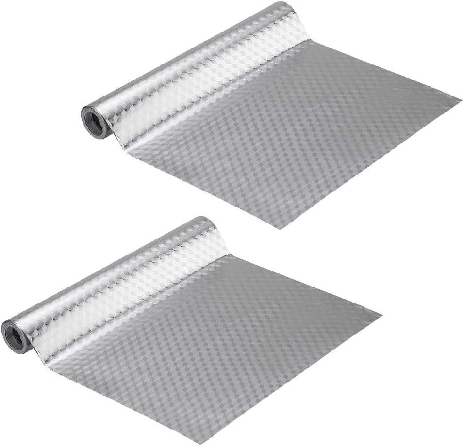 Gwolf Pegatinas de papel de aluminio cocina, Etiqueta autoadhesiva de pared de papel de aluminio a prueba de aceite a prueba de aceite, etiqueta de la estufa de cocina para el hogar, 40x100cm