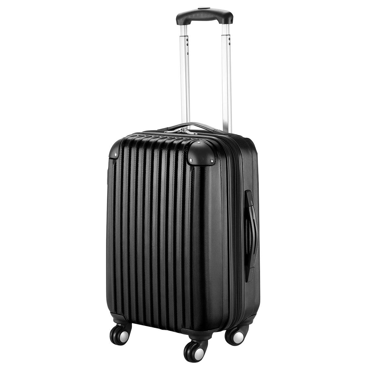 Goplus 20'' ABS Carry On Luggage Expandable Hardside Travel Bag Trolley Rolling Suitcase GLOBALWAY (Black) by Goplus (Image #1)