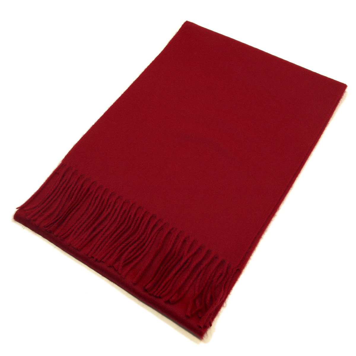 Classic Premium Unisex Plain Solid Color Winter Fringe Scarf - Different Colors Available, Light Ivory SCDK301-LightIvory