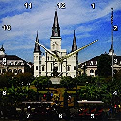 3dRose DPP_90466_2 St. Louis Cathedral, New Orleans, Louisiana - US19 DFR0091 - David R. Frazier - Wall Clock, 13 by 13-Inch