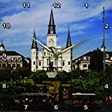 Cheap 3dRose dpp_90466_2 St. Louis Cathedral, New Orleans, Louisiana – US19 DFR0091 – David R. Frazier – Wall Clock, 13 by 13-Inch