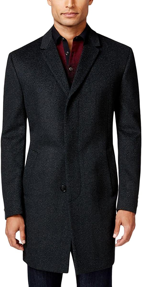 Kenneth Cole New York Mens Elan Wool Top Coat