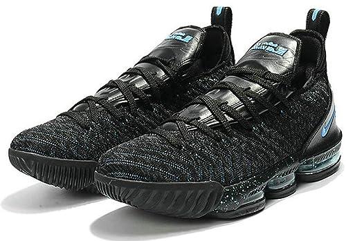 Lebron James 16 XVI Black Blue Zapatos de Baloncesto para Hombre: Amazon.es: Zapatos y complementos