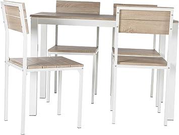 Abitti Conjunto de Mesa + sillas Xobe, para Comedor, Salon o ...