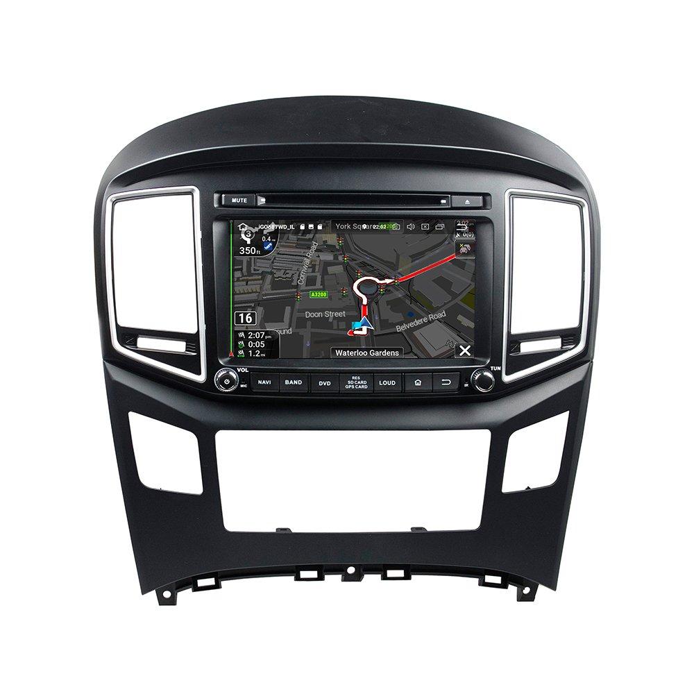 kunfine Android 8.0 Octa Core Coche Reproductor de DVD GPS navegación Multimedia estéreo de Coche para Hyundai H1 2016 Autoradio Control de Volante con 3 G ...