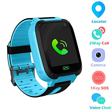 Jslai Kids Smart Watch Phone, GPS Tracker Smartwatch for 3-12 Year Old Boys  Girls with SOS Camera Sim Card Slot Touch Screen Game Smartwatch for