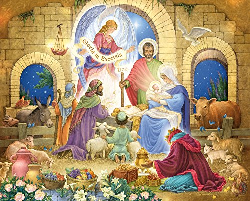 Vermont Christmas Company Glorious Nativity Jigsaw Puzzle 1000 Piece