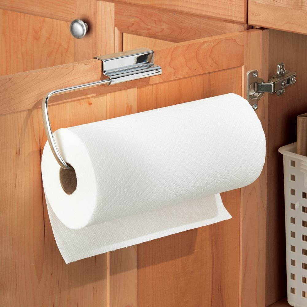 Amazoncom InterDesign Axis Over The Cabinet Paper Towel Holder -  bathroom paper towel holder