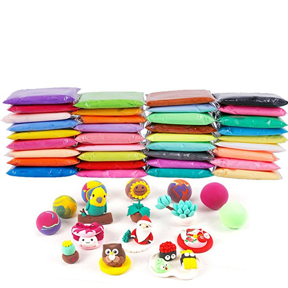Anyumocz 36 Colors Air Dry Clay Moulding Craft Clay - Clay Set for Kids with Tools