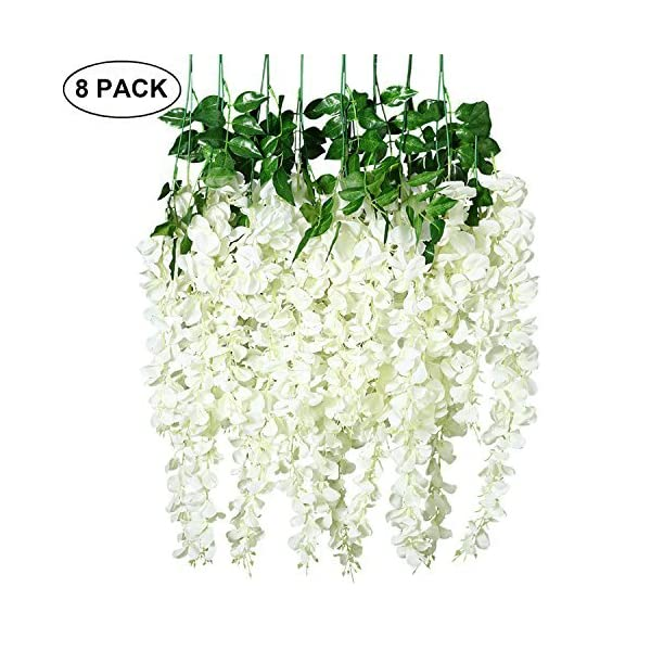 Unomor-325-Feet-Wisteria-Artificial-Flowers-Fake-Hanging-Flowers-Vine-Garland-for-Wedding-Decorations-8-Pcs