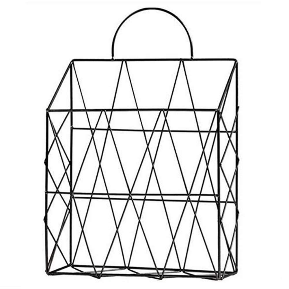 Mesh Wire Wall Baskets, Iron rastrelliera Porta riviste Contenitore Decorativo da Parete per Soggiorno, Bagno e Ufficio Gold Meccion