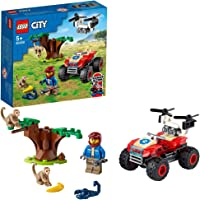 LEGO 60300 City Wildlife Rescue ATV Off Roader Vehicle Car Toy with Animal Figures, Toys for Kids 5+ Years Old