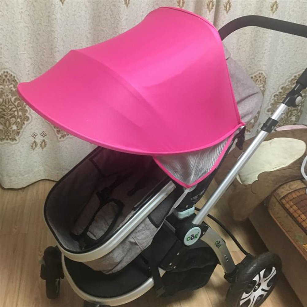 Baby Stroller UV Protector Sun Protection Baby Sun Shield Sunshade Cover for Strollers Car Seats and Pram(HZC144) (Rose Red) Hersent