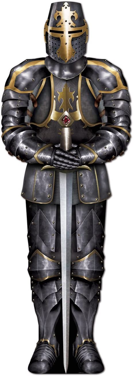 Beistle 54527 Jointed Black Knight, 6-Feet, 1 Piece