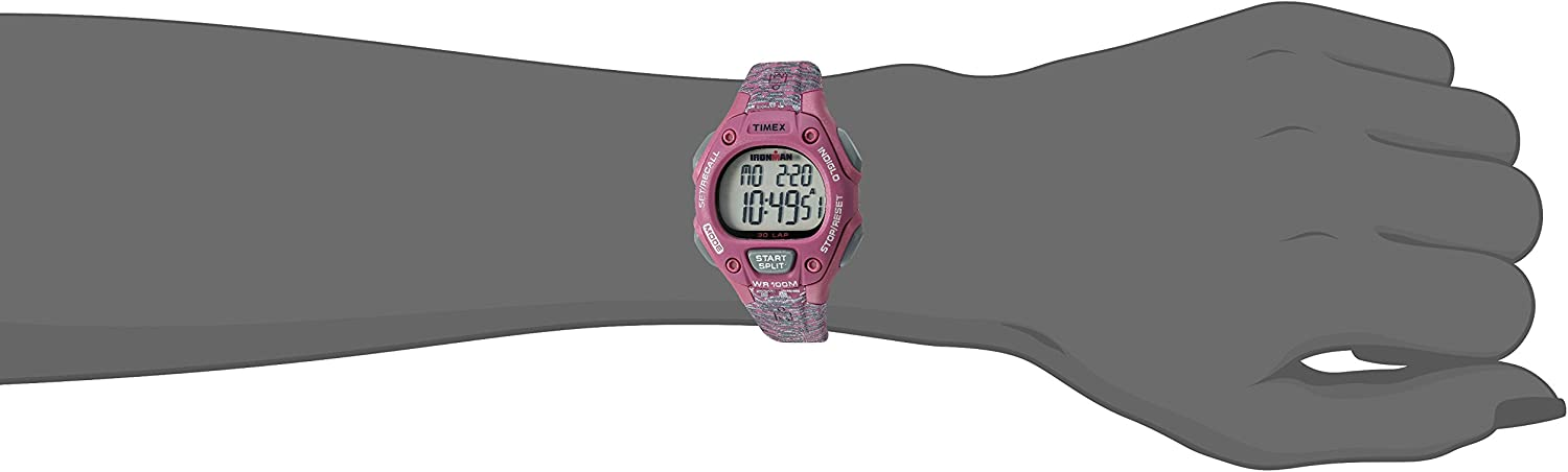 Timex Women's Ironman Classic 30 Mid-Size Watch Pink/Gray Texture