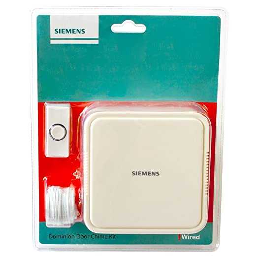 SIEMENS® Wired Doorbell Door Chime Kit IP44 Water Resistant White Long Wire