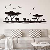 Grandora W683 tatuaje de pared África sabana animales I negro 190 ...