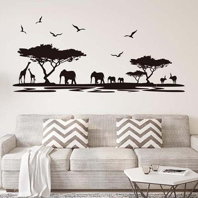 Ufengke Silueta Africana Del Safari Pegatinas De P...