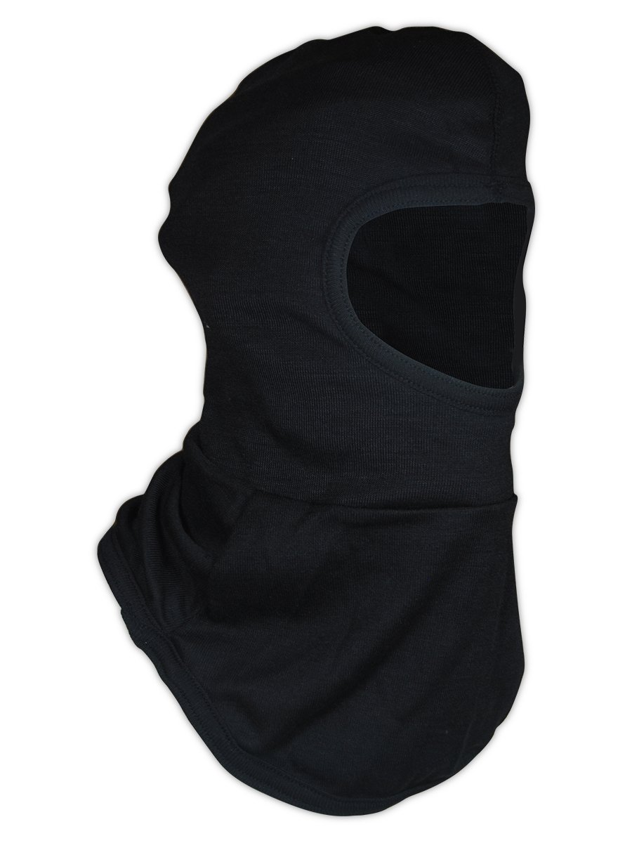 Magid Glove & Safety HPT385BK FR 6 oz. NFPA 70E Compliant para-Tek FR Balaclava, Black, 8'' Front and Back Single Layer Bib