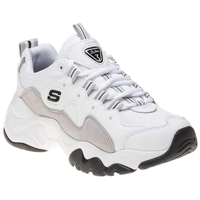 skechers chunky sneakers white