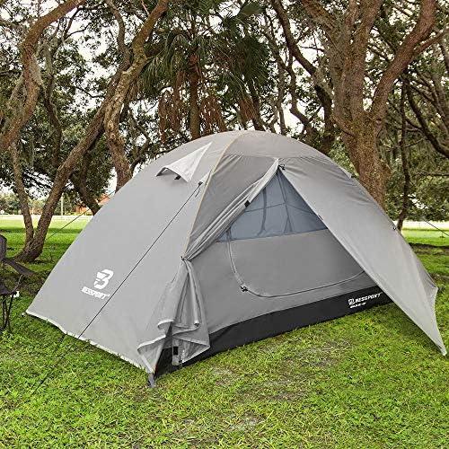 Bessport Camping Tente 1 et 2 Personnes Ultra Légère Facile à Installer Tentes Dôme Double Couche Tente 4 Saison Imperméable, Ventilée pour Pique-Nique, Randonnée, Camping