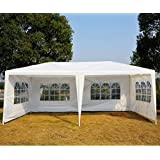 Outsunny 10x 20ft Wedding Party Tent Outdoor Event Camping Gazebo Canopy with 4 Removable Sidewalls