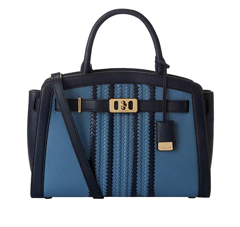 3ca71affb198 Michael Kors Large Karson Pebble Leather Satchel in Denim   Navy  Handbags   Amazon.com