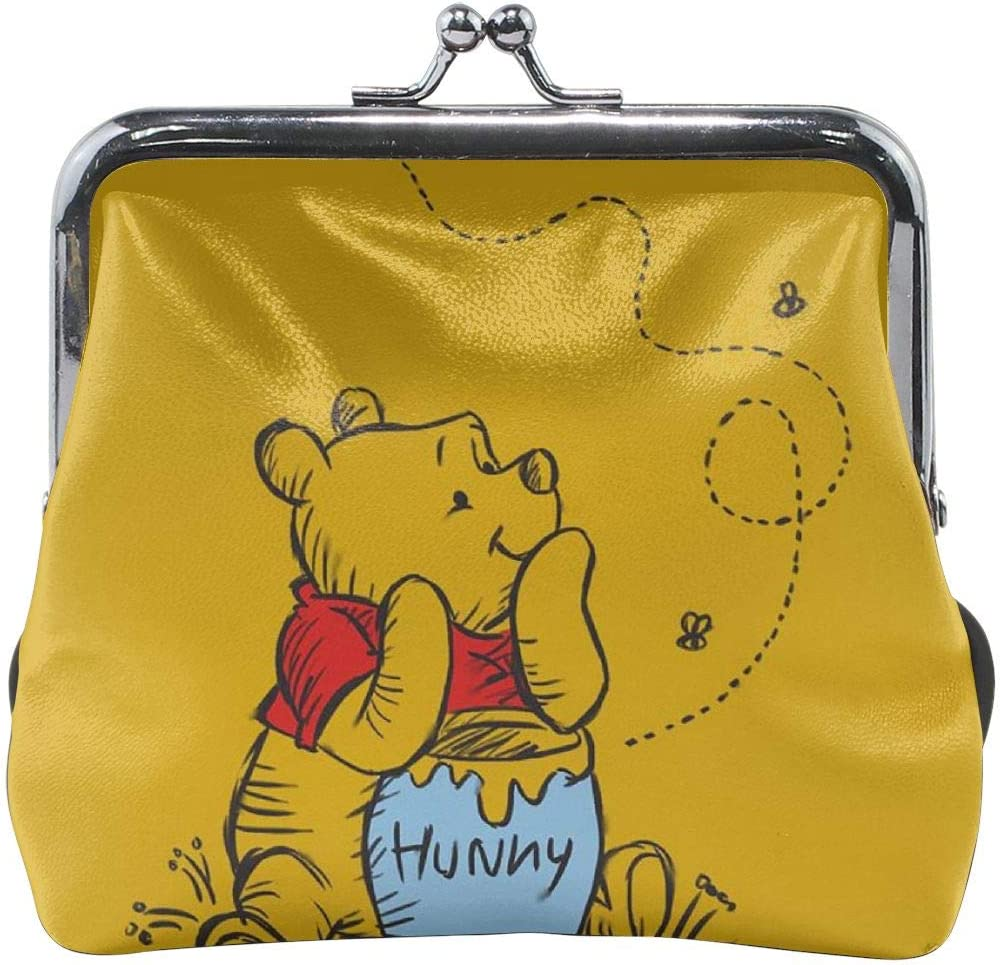 Buckle Coin Purses Winnie The Pooh Pouch Kiss-lock Change Purse Wallets