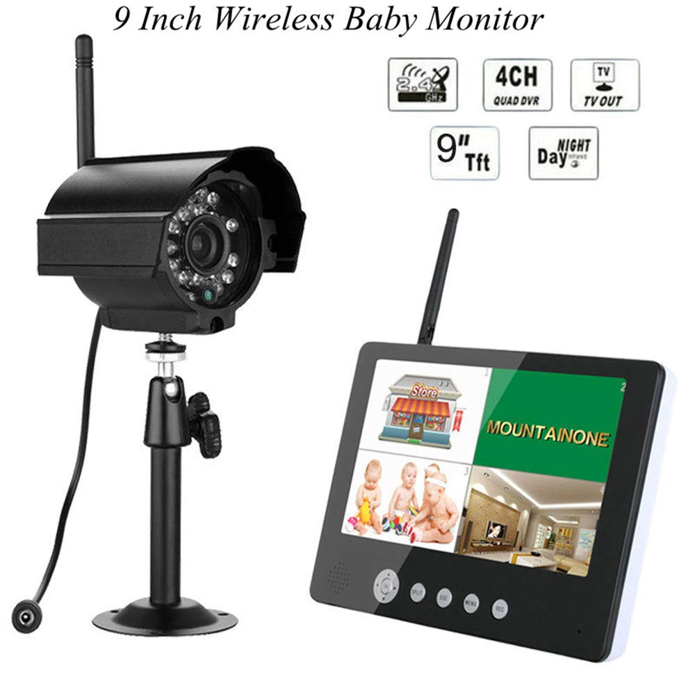 New Landing 9 Inch Wireless Baby Monitor Support 4CH 4 Split by New Landing