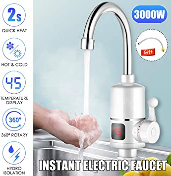 HOT 3000W Mini 220V Instant Electric Tankless Hot Water Heater Sink Tap Faucet