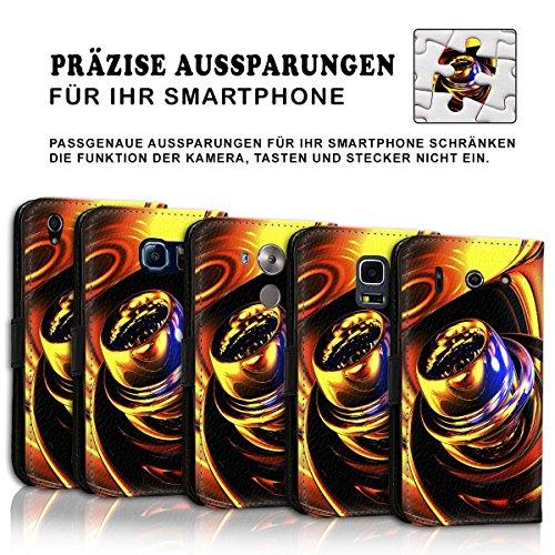 Wallet Book Style Flip Handy Tasche Case Schutz Hülle Schale Motiv Etui für Apple iPhone 5 / 5S - Design Flip MV162