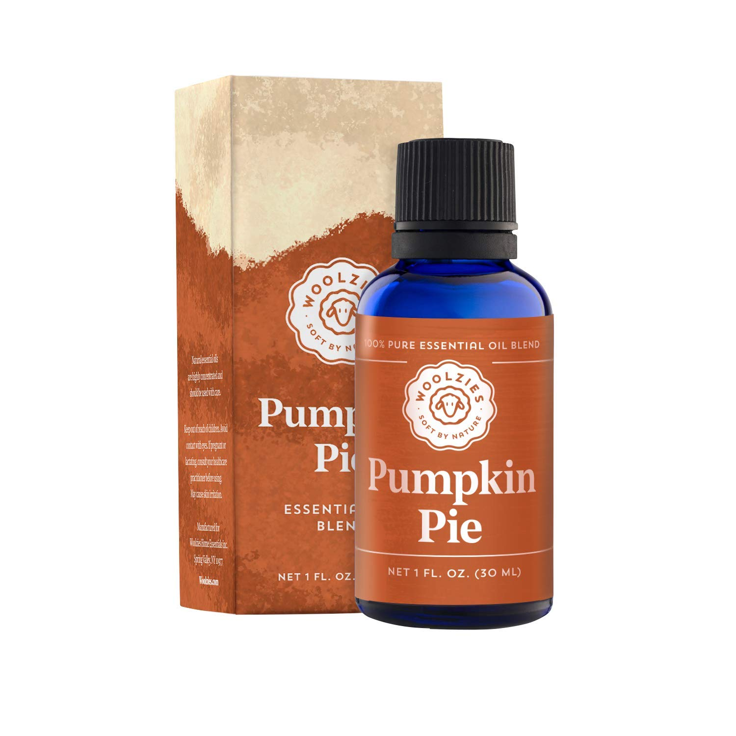 Woolzies 100% Pure & Natural Holiday Pumpkin Pie Essential Oil Blend 1 Fl Oz | Highest Quality Aromatherapy Therapeutic Grade Oil | For Diffuse, Internal & Topical Use by Woolzies
