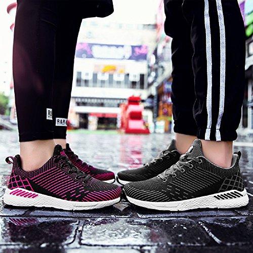 de Zapatillas Exterior 36 Running Negro Rojo en Azul Asfalto Negro Hombre Correr Deportes 48 Unisex Sneakers Mujer xXwUqdgd
