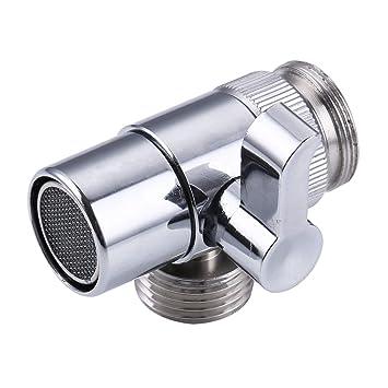 Amazon Com Kes Brass Sink Valve Diverter Faucet Splitter For