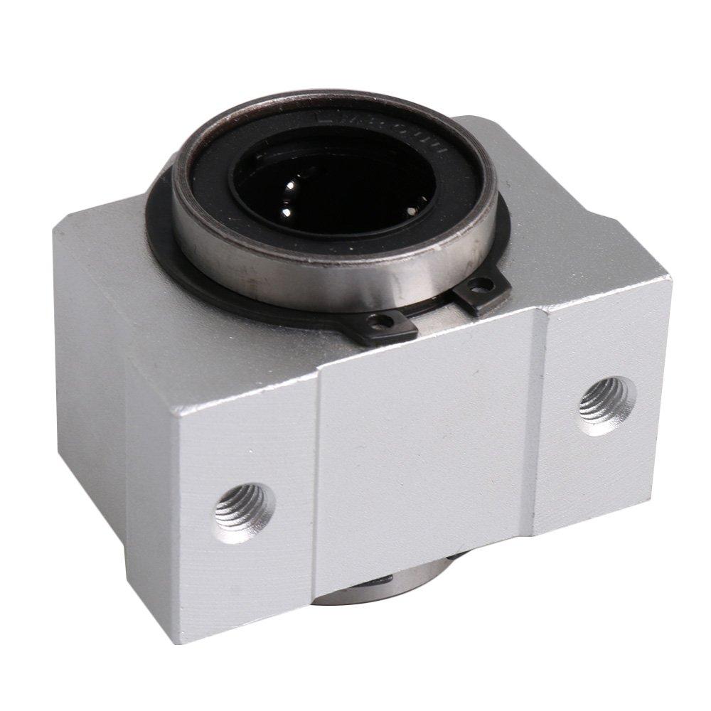 CNBTR 20mm SC20V Short Type Bearing Steel Aluminum Linear Bearing Motion Slide Ball Block for Huge CNC Machine Router Electric Print yqltd M6180410037