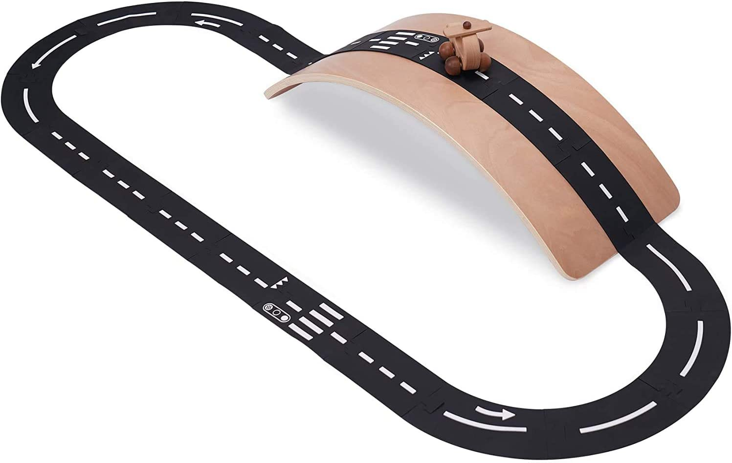 Crisschirs Flexible Race Track Toy Car Road Set 21 Pieces Highway Expressway Toy